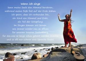 Postkarte Wenn ich singe